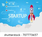 startup design and concept... | Shutterstock .eps vector #707773657