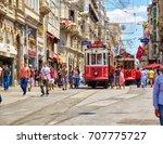 istanbul  turkey   july 13 ... | Shutterstock . vector #707775727
