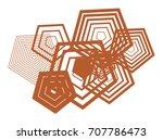 shape of pentagon  abstract...   Shutterstock .eps vector #707786473