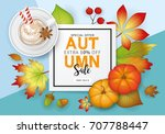 autumn banner design with fall  ... | Shutterstock .eps vector #707788447