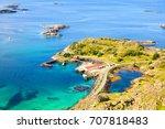 lofoten islands coastline  view ... | Shutterstock . vector #707818483