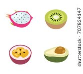 fruit vector icons | Shutterstock .eps vector #707824147