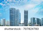 downtown miami skyline  ... | Shutterstock . vector #707824783
