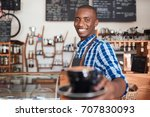 portrait of a smiling african... | Shutterstock . vector #707830093