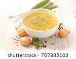 vegetable broth | Shutterstock . vector #707835103