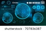 futuristic virtual graphic... | Shutterstock .eps vector #707836387