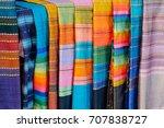 traditional cloth of ratchaburi ... | Shutterstock . vector #707838727