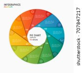 vector circle chart infographic ... | Shutterstock .eps vector #707847217