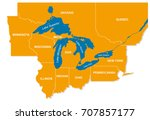 graphic of the north american...   Shutterstock .eps vector #707857177