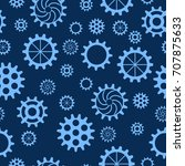 seamless pattern with gears of...   Shutterstock .eps vector #707875633