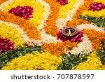 flower rangoli for diwali or... | Shutterstock . vector #707878597