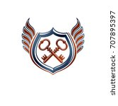 creative vintage emblem with... | Shutterstock .eps vector #707895397