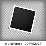 square frame paper template... | Shutterstock .eps vector #707902027