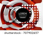 modern 3d ring composition in... | Shutterstock .eps vector #707902657