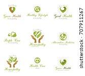 homeopathy creative symbols... | Shutterstock .eps vector #707911267
