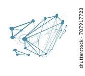 abstract vector construction ... | Shutterstock .eps vector #707917723