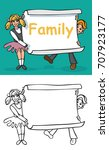 illustration of a children boy...   Shutterstock .eps vector #707923177