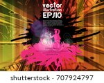 big party. background for... | Shutterstock .eps vector #707924797