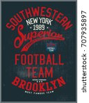 vintage varsity graphics and... | Shutterstock .eps vector #707935897
