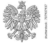 poland eagle  polish national... | Shutterstock .eps vector #707937937