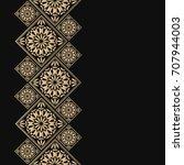golden frame in oriental style. ... | Shutterstock .eps vector #707944003