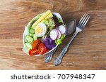 mixed chef's salad.mixed chef's ... | Shutterstock . vector #707948347