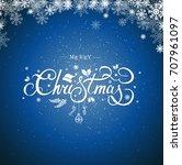 christmas typography ... | Shutterstock . vector #707961097