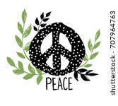 international peace day symbol  ... | Shutterstock .eps vector #707964763
