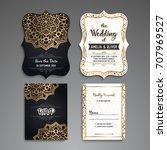 business card. vintage... | Shutterstock .eps vector #707969527