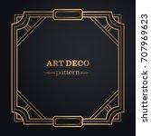 art deco frame background | Shutterstock .eps vector #707969623