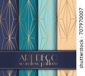 art deco seamless pattern | Shutterstock .eps vector #707970007