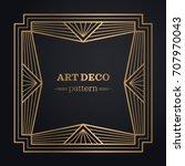 art deco frame background | Shutterstock .eps vector #707970043