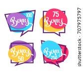bonus  congratulation bright... | Shutterstock .eps vector #707975797
