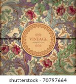 Floral Background With Vintage...