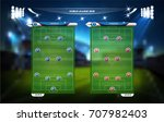 football or soccer playing... | Shutterstock .eps vector #707982403
