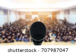 microphone over the abstract... | Shutterstock . vector #707987047