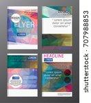 flyer design business annual...   Shutterstock .eps vector #707988853