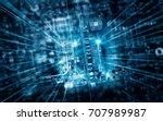 electronic circuit board... | Shutterstock . vector #707989987