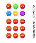 set of sale tags | Shutterstock . vector #70799872