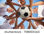 low angle view of boys in... | Shutterstock . vector #708003163