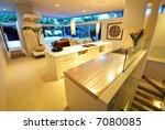 a modern  designer house   with ... | Shutterstock . vector #7080085
