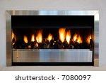 A Modern Interior Fireplace