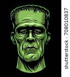 color illustration of monster ... | Shutterstock .eps vector #708010837