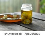 white cheese labneh balls in... | Shutterstock . vector #708030037
