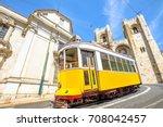 historic tram line in front of... | Shutterstock . vector #708042457