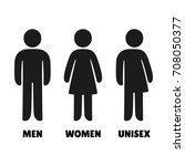 man  woman an unisex icons.... | Shutterstock . vector #708050377