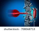 success breaking through... | Shutterstock . vector #708068713