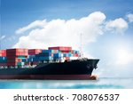 logistics import export... | Shutterstock . vector #708076537