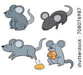 vector set of mouse | Shutterstock .eps vector #708076987