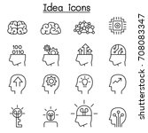 idea   creative icon set in...   Shutterstock .eps vector #708083347